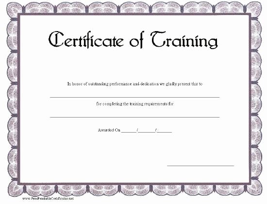 Training Certificate Template Free Download New This Printable Certificate Of Training Has A Blue Gray