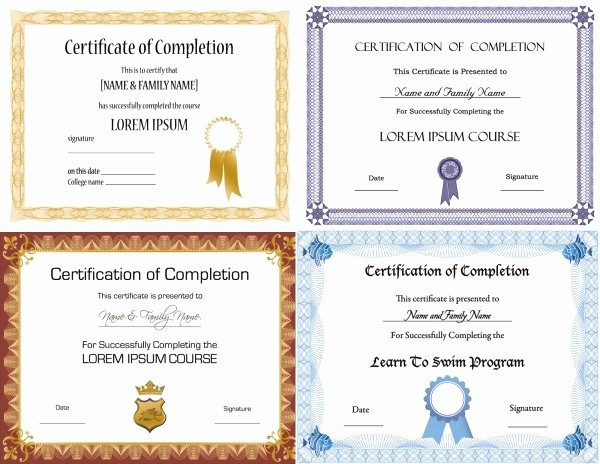 Training Certificate Template Free Download Unique Certificate Design Templates Free Vector 13 397