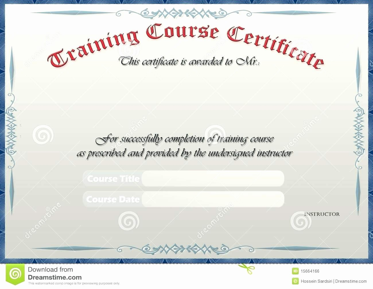 Training Certificates Templates Free Download Awesome Template Sample Training Certificate Template