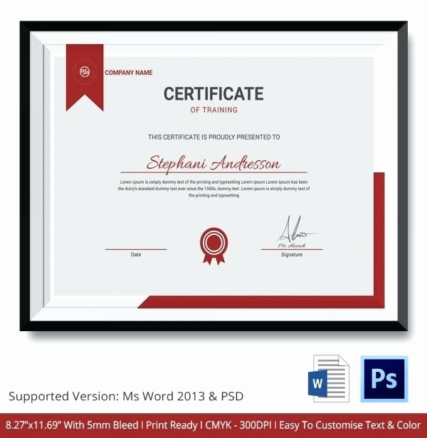 Training Certificates Templates Free Download Beautiful Certificate Template Pdf – Ooojo