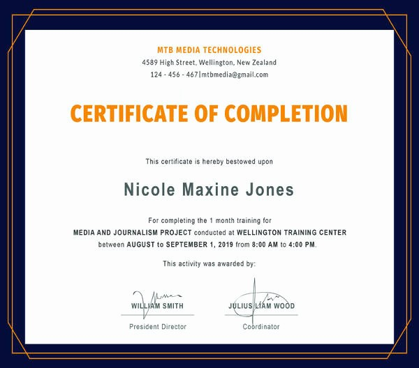 Training Certificates Templates Free Download Fresh 82 Free Printable Certificate Template Examples In Pdf