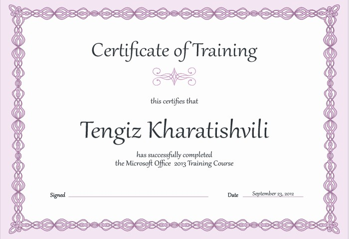Training Certificates Templates Free Download Inspirational 15 Training Certificate Templates Free Download Designyep