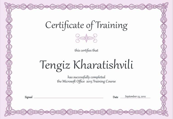 Training Certificates Templates Free Download Inspirational 15 Training Certificate Templates Free Download Designyep