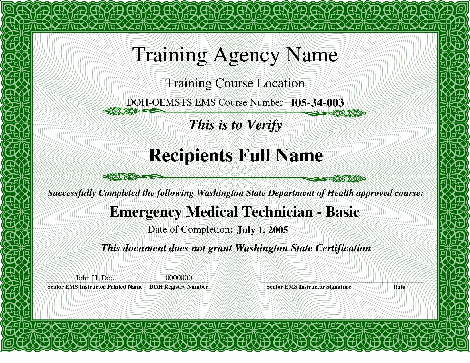Training Certificates Templates Free Download Inspirational Training Certificate Template Download