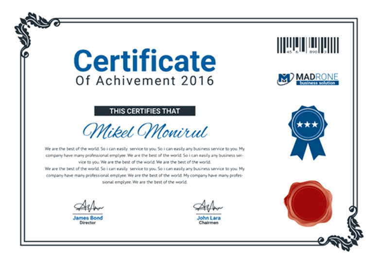Training Certificates Templates Free Download Luxury 50 Multipurpose Certificate Templates and Award Designs