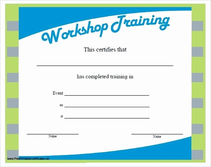 Training Certificates Templates Free Download Luxury Training Certificate Template – Pglab