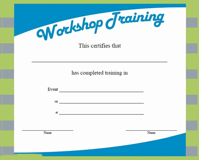 Training Certificates Templates Free Download New Training Certificate Template – 21 Free Word Pdf Psd