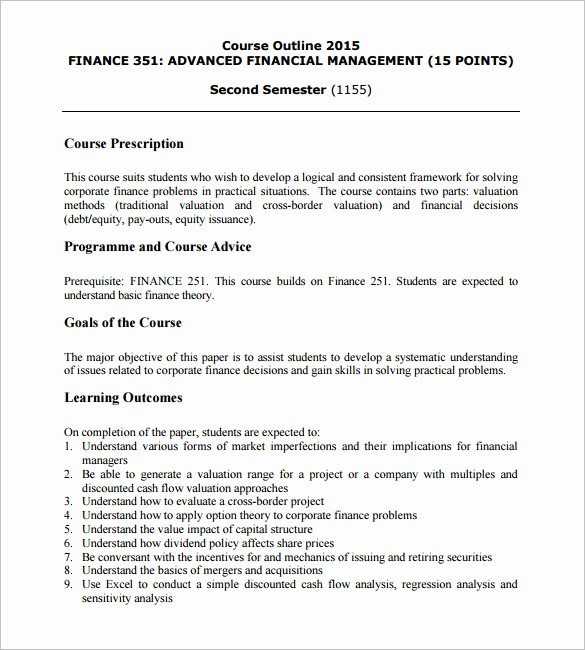 Training Course Outline Template Word Awesome 14 Training Course Outline Template Doc Pdf