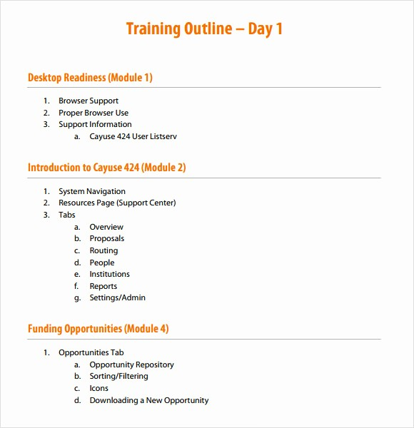 Training Course Outline Template Word Best Of Blog Archives Inlebf