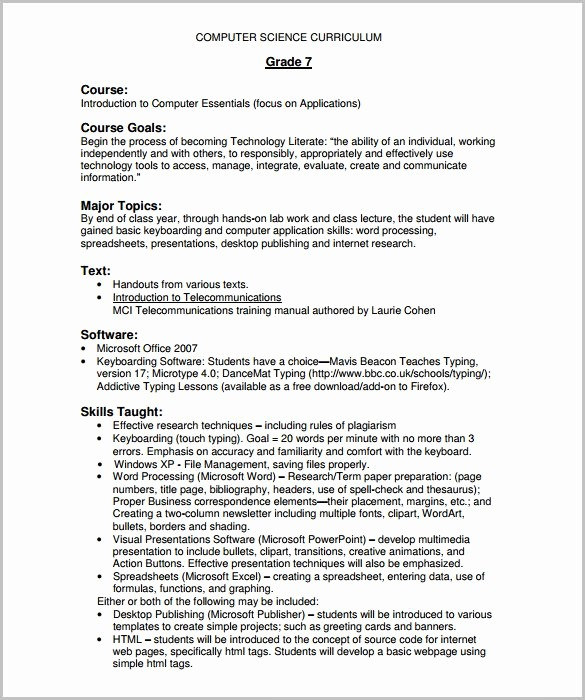 Training Course Outline Template Word Best Of Training Course Outline Template 11 Free Sample