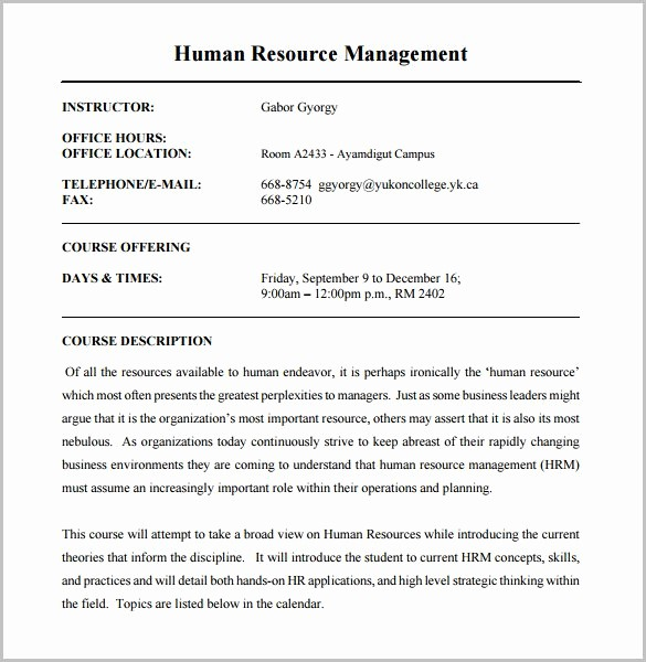 Training Course Outline Template Word Elegant Training Course Outline Template 11 Free Sample