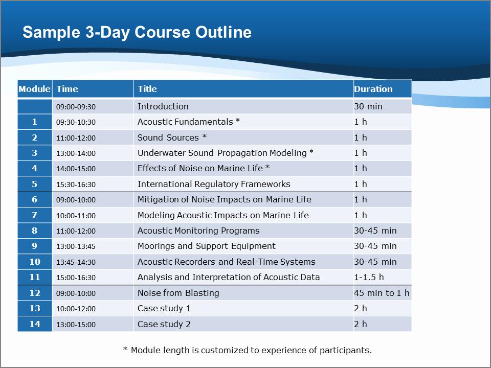 Training Course Outline Template Word Elegant Training Courses — Jasco Applied Sciences