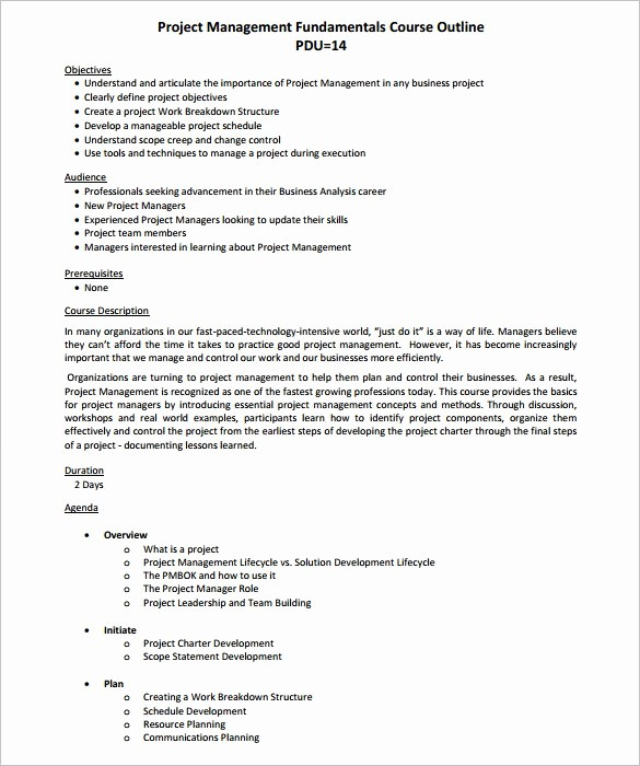 Training Course Outline Template Word Lovely 35 Outline Templates Free Word Pdf Psd Ppt