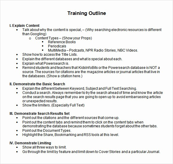 Training Course Outline Template Word Lovely 8 Amazing Training Outline Templates to Download for Free