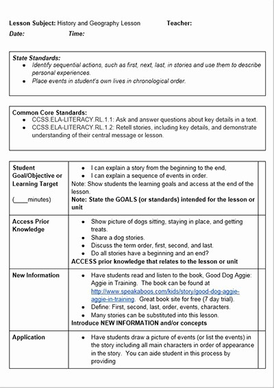Training Lesson Plan Template Word Awesome Mon Core History Lessons Free Lesson Plan Template