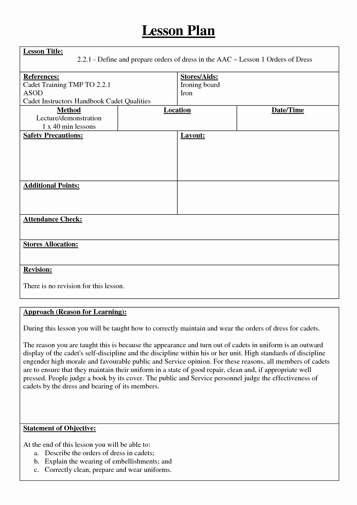Training Lesson Plan Template Word Best Of 7 Best Of Training Lesson Plan Template Sample
