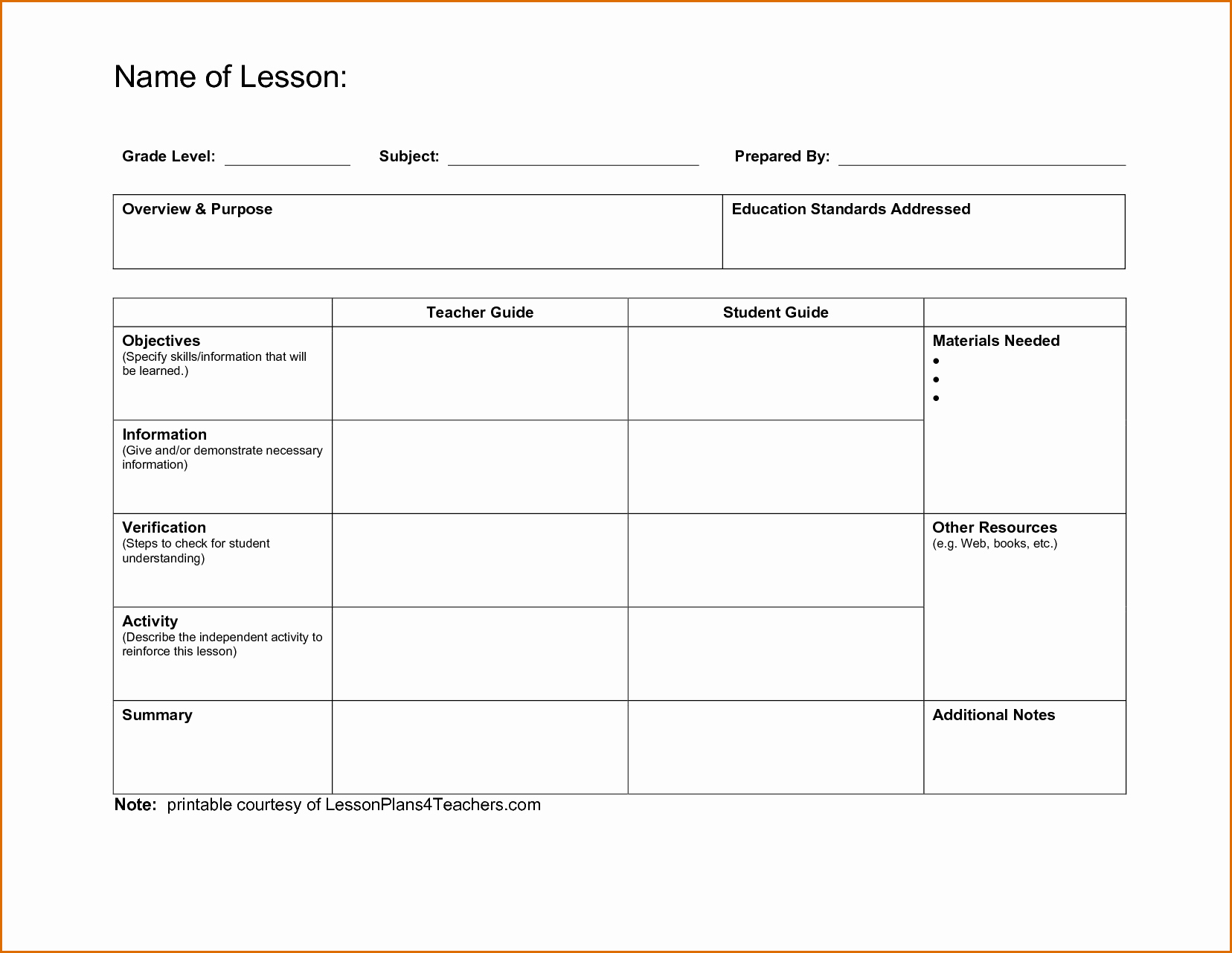 Training Lesson Plan Template Word Lovely 7 Lesson Plans Template