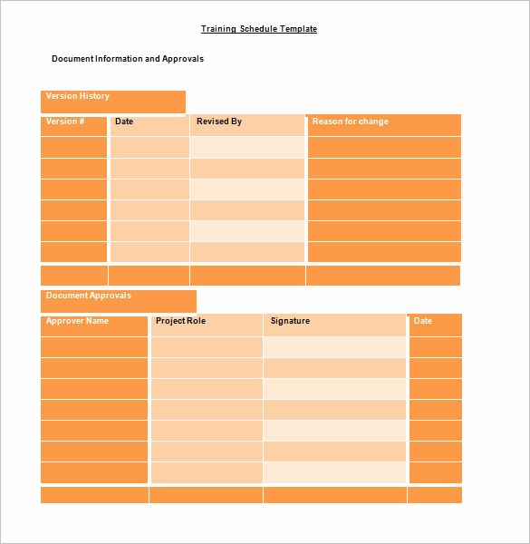 Training Plan Template Excel Download Awesome Training Schedule Template 7 Free Sample Example