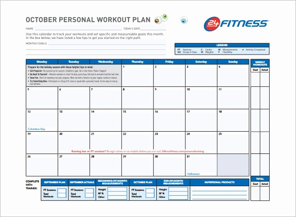 Training Plan Template Excel Download Awesome Workout Schedule Template 6 Free Sample Example format