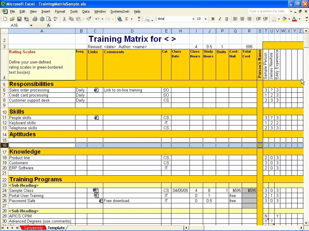 Training Plan Template Excel Download Lovely Employee Training Matrix Template Excel