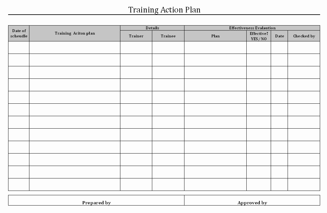 Training Plan Template Excel Download New Employee Training Matrix Template Excel Download