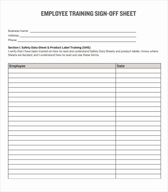 Training Sign In Sheet Excel Awesome 16 Sample Training Sign In Sheets