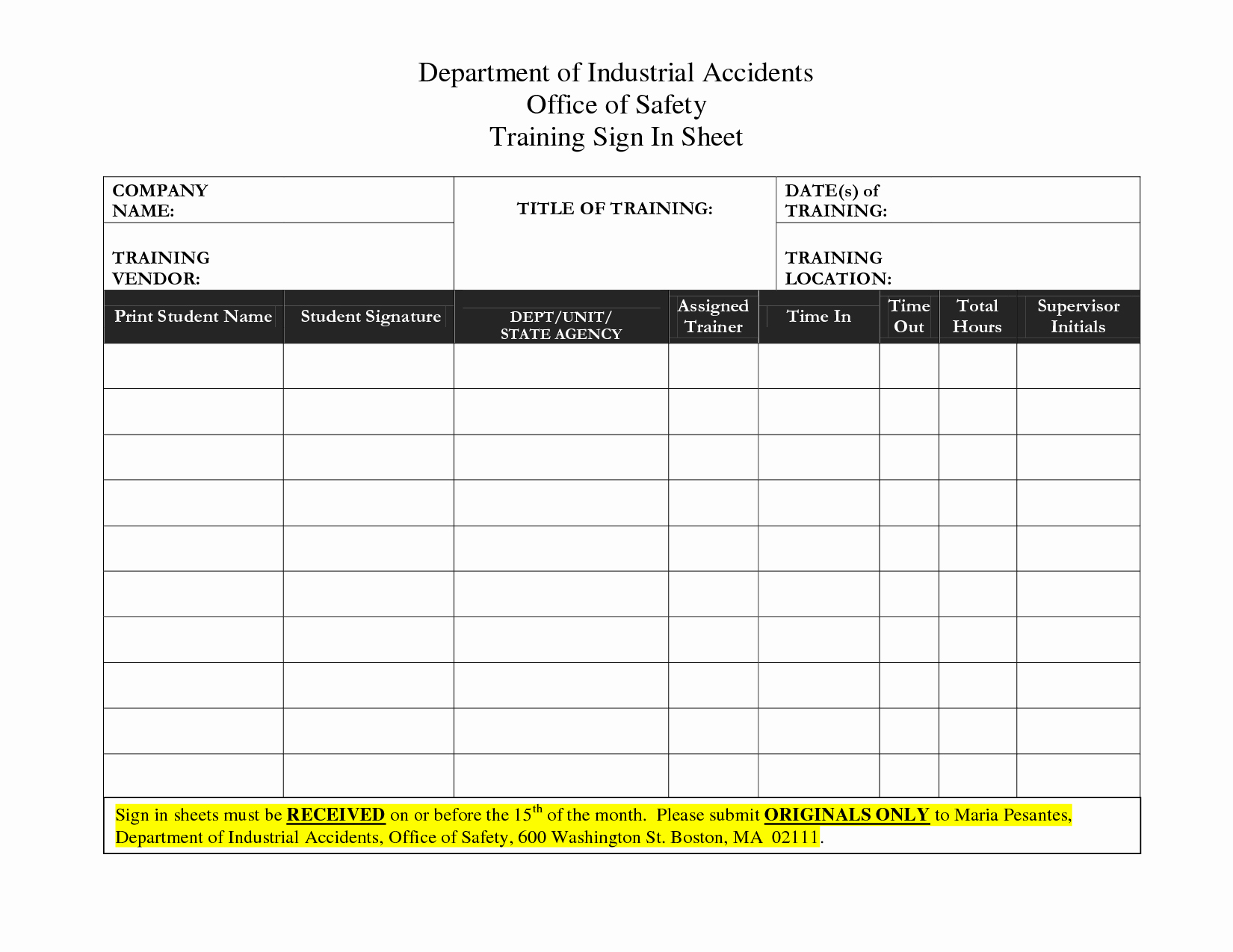 Training Sign In Sheet Excel Awesome Best S Of Sign In Sheet Templates Excel Volunteer