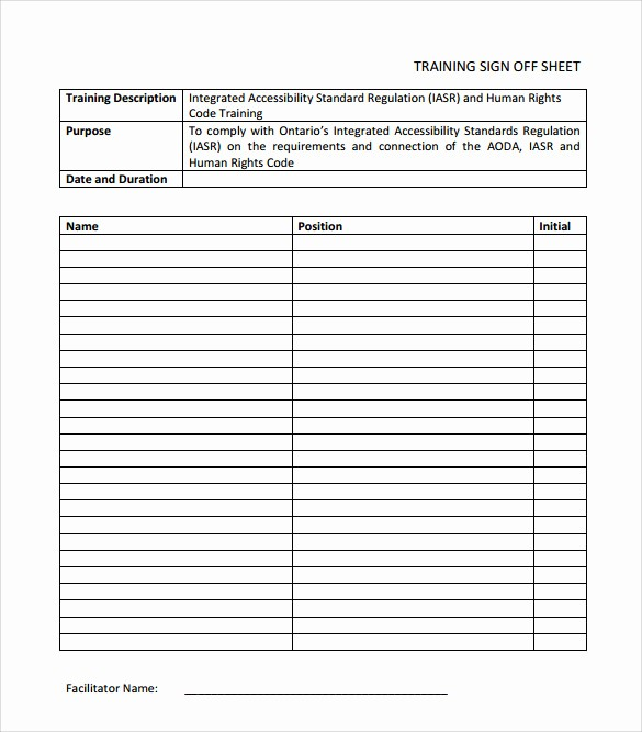 Training Sign In Sheet Excel Best Of 16 Sample Training Sign In Sheets