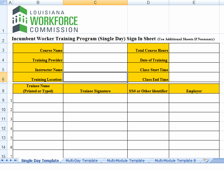 Training Sign In Sheet Excel Best Of 8 Sign In Sheet Templates Excel Templates