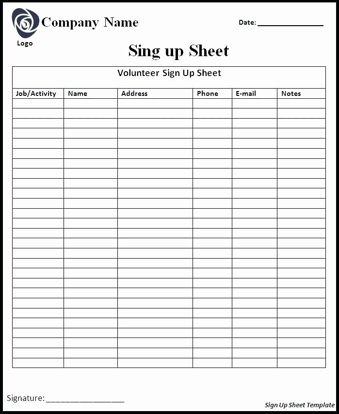 Training Sign In Sheet Excel Luxury Training Sheet Template Gym Workout Sheet Template