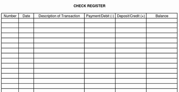 post checking account balance worksheet