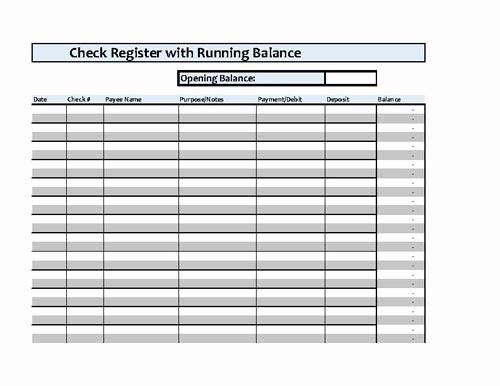 Transaction Register for Checking Account Elegant Checkbook Register Spreadsheet Microsoft Excel