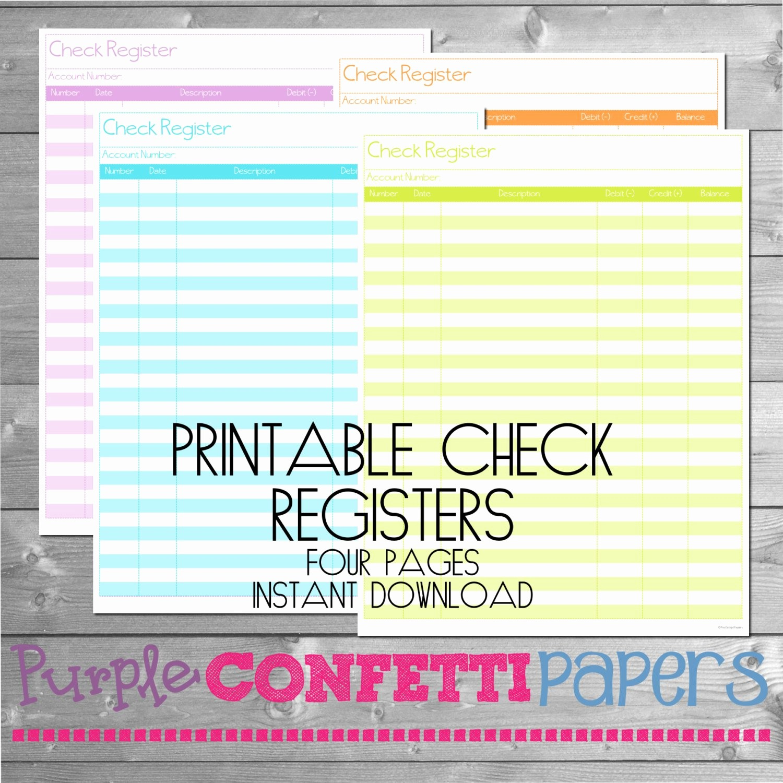 Transaction Register for Checking Account Elegant Printable Check Register Check Register Checking Register