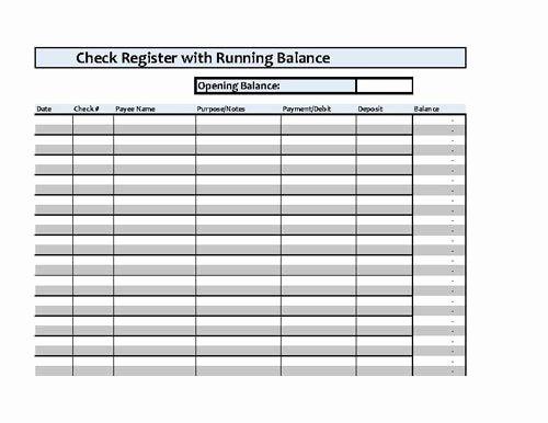 Transaction Register for Checking Account New Checkbook Register Spreadsheet Microsoft Excel