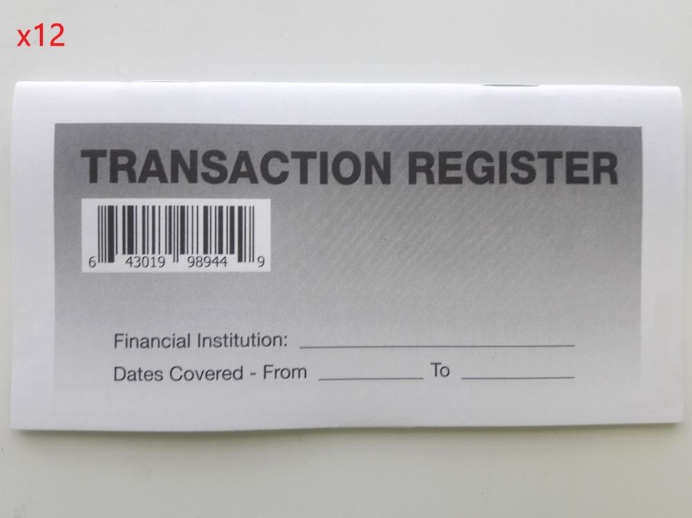 Transaction Registers for Checking Accounts Awesome 12 High Quality Transaction Registers 2017 19 Checkbook