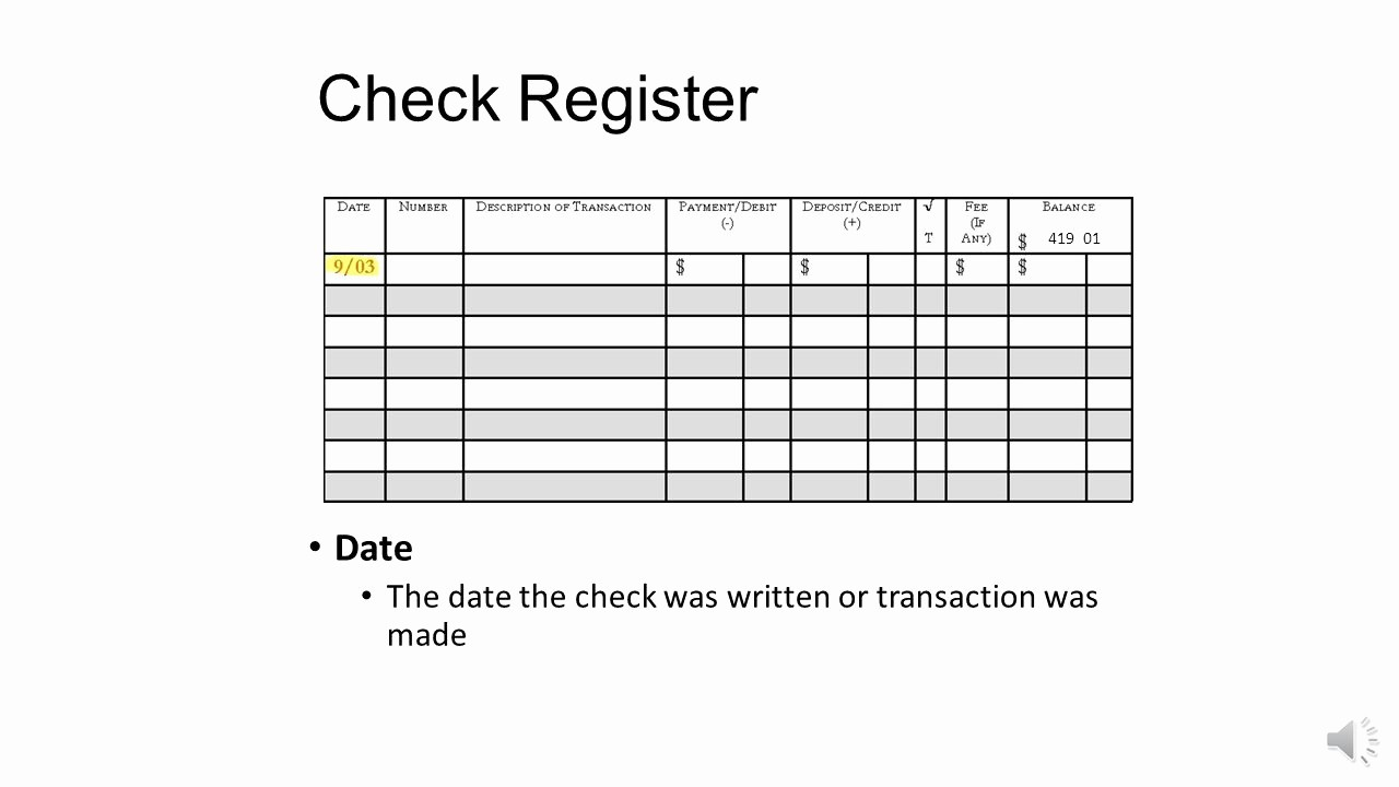 Transaction Registers for Checking Accounts Best Of Checking Account Register Ppt