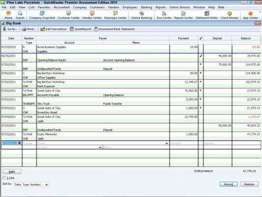 Transaction Registers for Checking Accounts Best Of How to Record Register Transactions In Quickbooks 2011