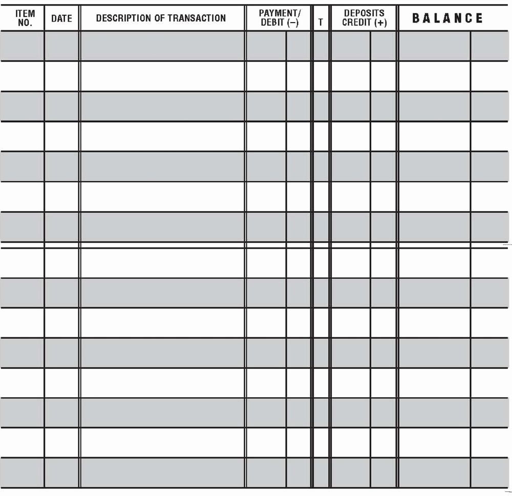 Transaction Registers for Checking Accounts Luxury 12 Easy to Read Checkbook Transaction Register Large Print