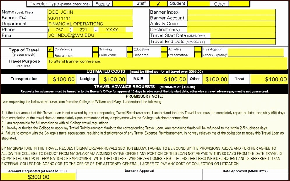 Travel Advance Request form Template Awesome How to Fill Out Travel Advance Request form Navy