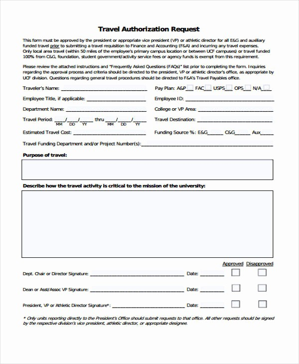Travel Advance Request form Template Fresh Travel Request form Template
