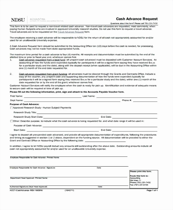 Travel Advance Request form Template Inspirational Cash Advance Policy Template Petty form – Royaleducationfo