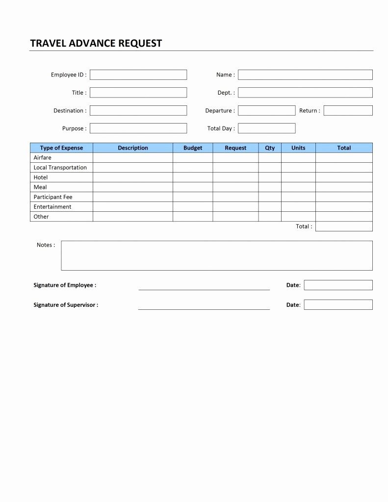 Travel Advance Request form Template Unique Application form Request form Template HTML
