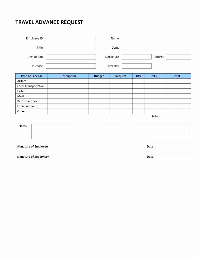 Travel Advance Request form Template Unique Application form Request form Template HTML