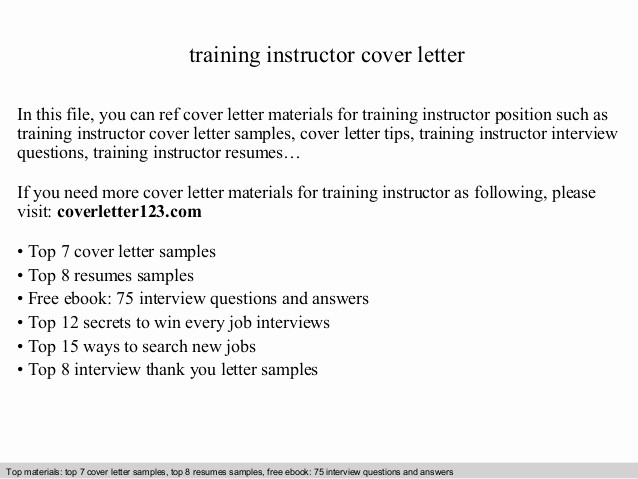 Travel Agent Letter to Client Beautiful Training Instructor Cover Letter