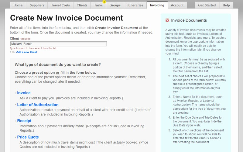 Travel Agent Letter to Client Inspirational Easy Invoicing software for Travel Agents