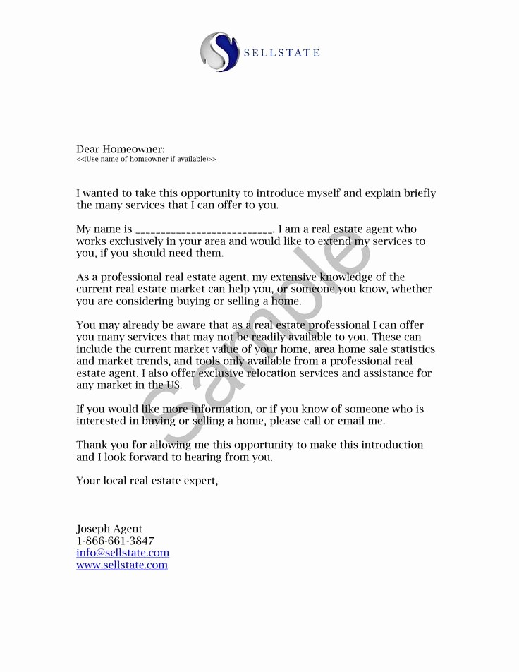 Travel Agent Letter to Client Inspirational Real Estate Letters Of Introduction Introduction Letter