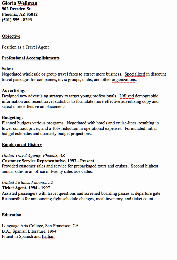 Travel Agent Letter to Client New Pin by Ririn Nazza On Free Resume Sample
