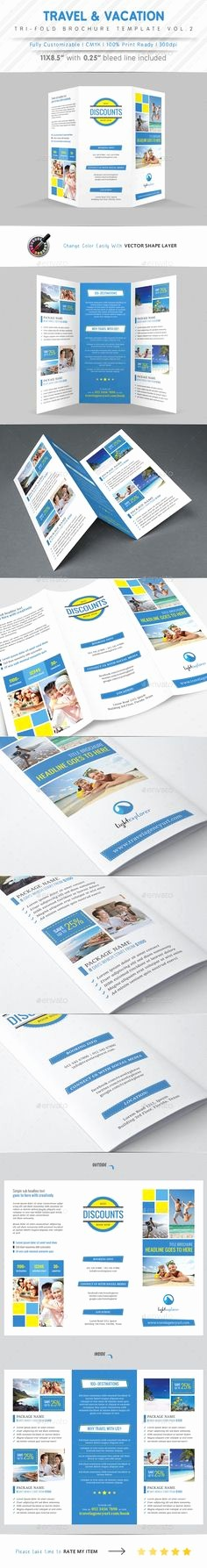 Travel Brochure Template for Kids Awesome Kids School Tri Fold Templates — Psd Template