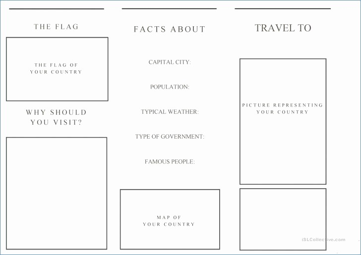Travel Brochure Template for Kids Elegant Printable Travel Brochure Template for Kids