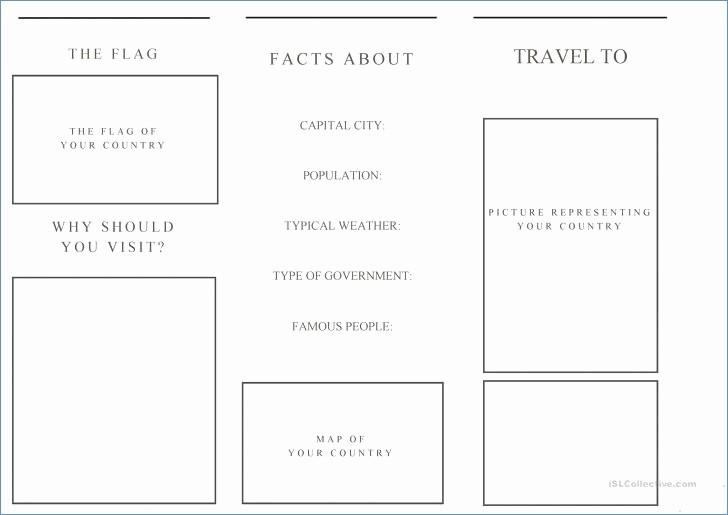 Travel Brochure Template for Kids Elegant Printable Travel Brochure Template for Kids